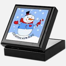 Cold Mittens Snowman Keepsake Box