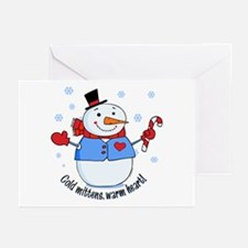 Cold Mittens Snowman Greeting Cards (Pk of 10)