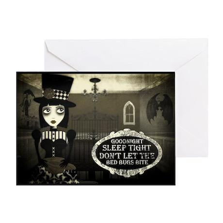 Good Night Kreepy Gril Greeting Card