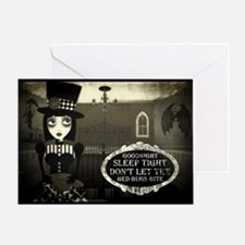 Good Night Kreepy Gril Greeting Card