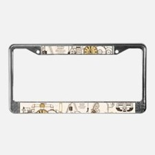 Steampunk Contraption License Plate Frame