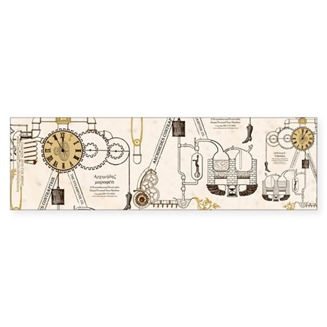Steampunk Contraption Sticker (Bumper)