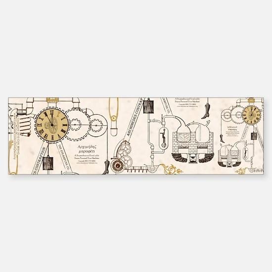 Steampunk Contraption Sticker (Bumper)