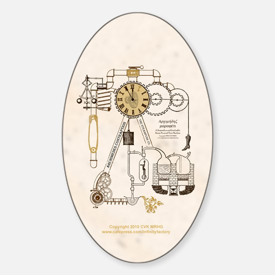 Steampunk Contraption Sticker (Oval)