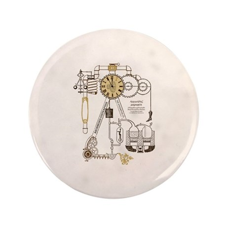 """Steampunk Contraption 3.5"""" Button (100 pack)"""