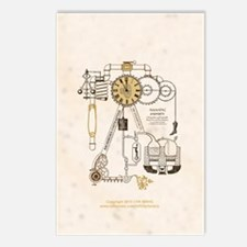 Steampunk Contraption Postcards (Package of 8)
