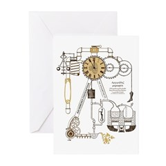 Steampunk Contraption Greeting Cards (Pk of 10)