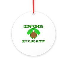 Diamonds Beat Clubs Ornament (Round)
