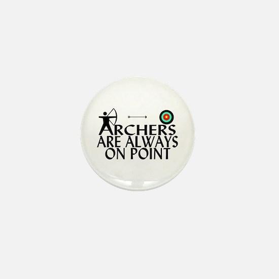 Archers On Point Mini Button