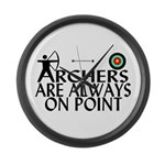 Archers On Point Large Wall Clock