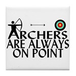 Archers On Point Tile Coaster