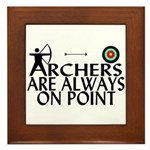 Archers On Point Framed Tile