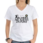 Archers On Point Women's V-Neck T-Shirt