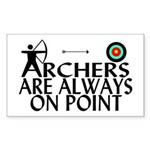 Archers On Point Sticker (Rectangle)