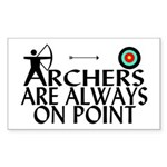 Archers On Point Sticker (Rectangle 50 pk)