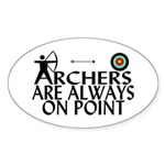 Archers On Point Sticker (Oval 10 pk)