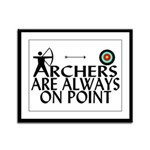 Archers On Point Framed Panel Print