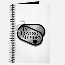 In Memory Dog Tags Journal