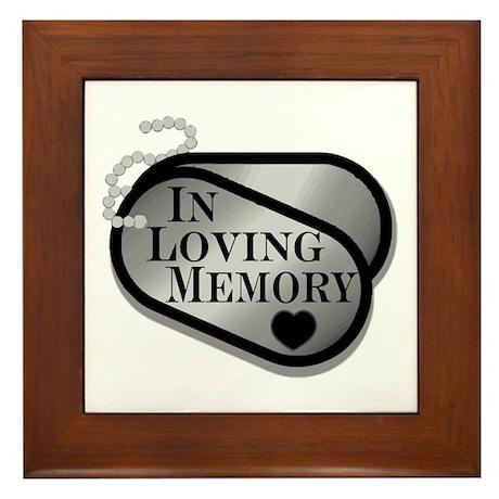 In Memory Dog Tags Framed Tile