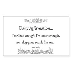 Daily Affirmation Decal