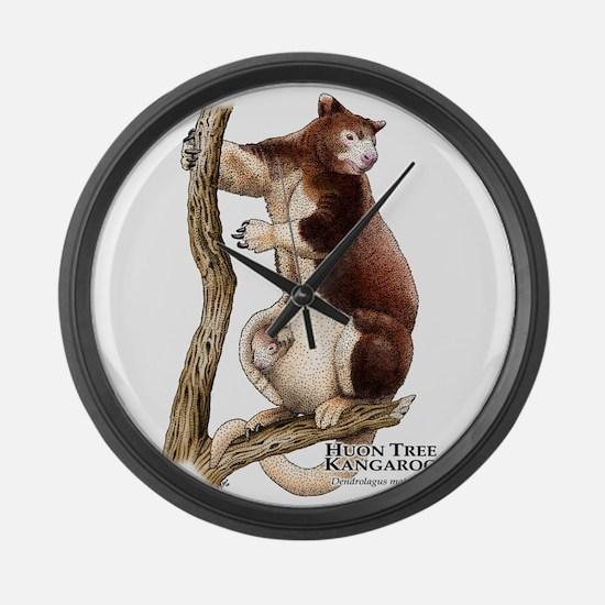 Huon Tree Kangaroo Large Wall Clock