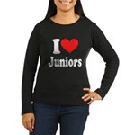 I Heart Juniors: Women's Long Sleeve Dark T-Shirt
