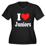I Heart Juniors: Women's Plus Size V-Neck Dark T-S