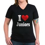 I Heart Juniors: Women's V-Neck Dark T-Shirt