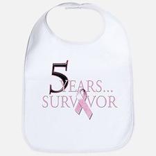 5 Years Breast Cancer Survivor Bib