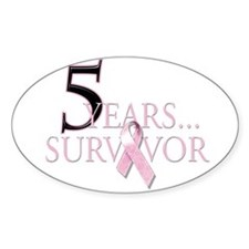5 Years Breast Cancer Survivor Decal