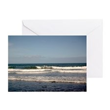 Surfers at Honoli'i Beach Greeting Cards (Package