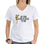 My Pimp Women's V-Neck T-Shirt
