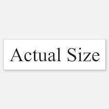 Actual Size Sticker (Bumper)