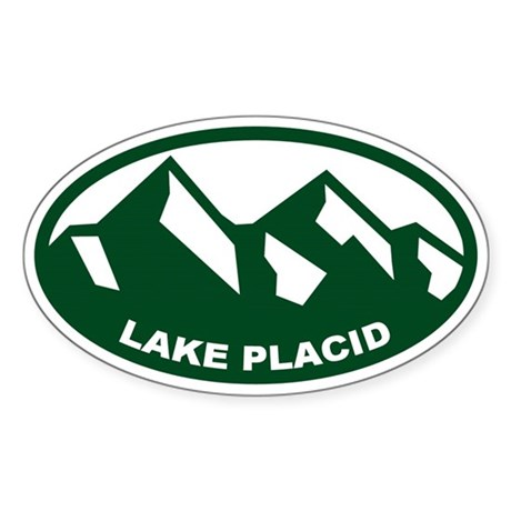 Lake Placid Sticker (Oval)