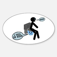 Used Toilet Decal
