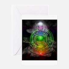 Meditation.Chakras Greeting Card
