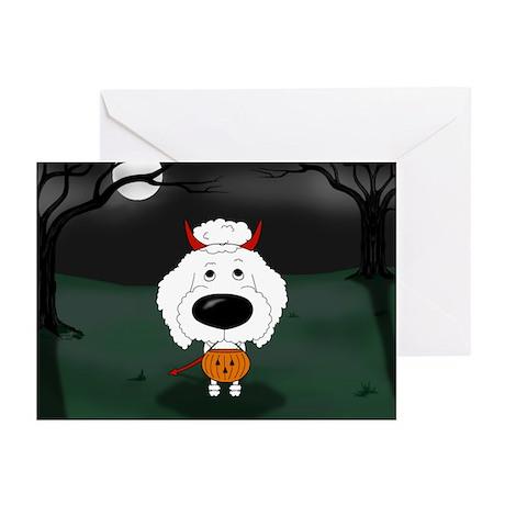 Poodle Devil Halloween Greeting Cards (Pk of 10)