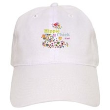 Hippie Chick at Heart Baseball Baseball Cap