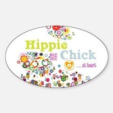 Hippie Chick at Heart Decal