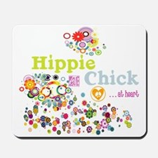 Hippie Chick at Heart Mousepad