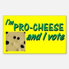 Pro-Cheese Political Rectangle Decal