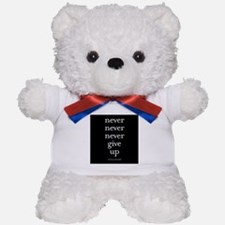 Never never never give up Teddy Bear