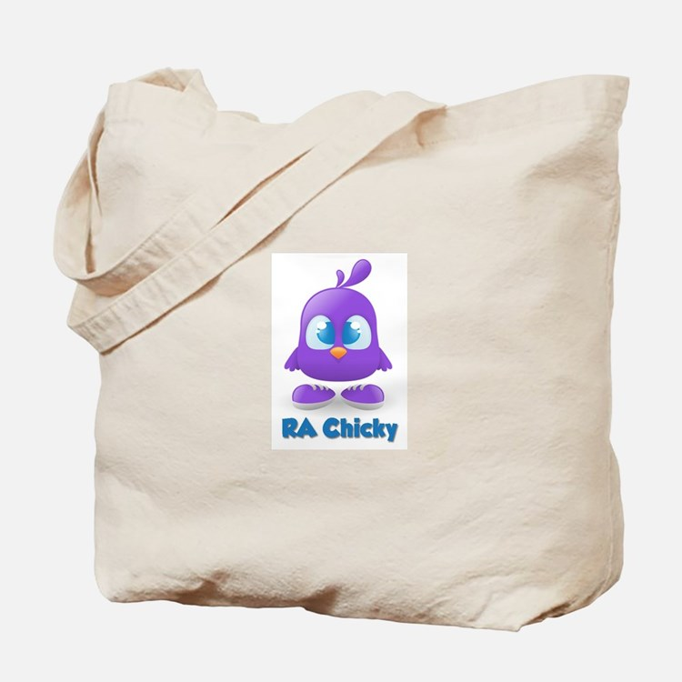RA Purple Cute Chicky Tote Bag