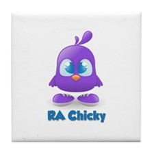 RA Purple Cute Chicky Tile Coaster
