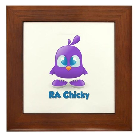 RA Purple Cute Chicky Framed Tile