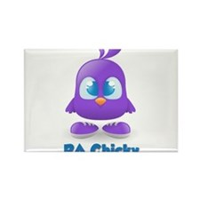 RA Purple Cute Chicky Rectangle Magnet