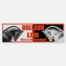 Rollkur vs. LDR? Bumper Bumper Sticker