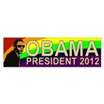 Obama Rainbow Shades 2012 Bumper Sticker