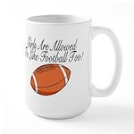 Girls & Football Large Mug