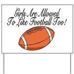 Girls & Football Yard Sign